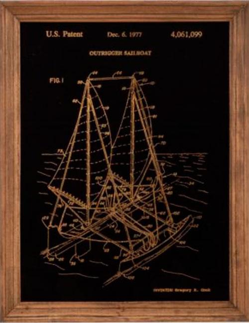 Barca a vela con stabilizzatore